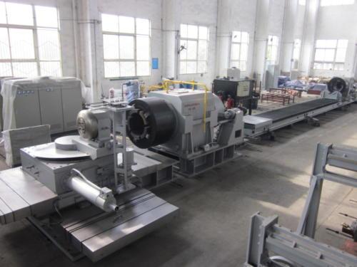 Long pipe spinning machine